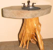 Quiescence 42 Inch Tree Trunk Vessel Sink Vanity