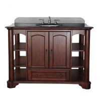 49 Inch Single Sink Bathroom Vanity with Mahogany Finish and Choice of Counter Top