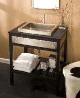 30 Inch Single Sink Bath Vanity with a Lava Granite Counter Top