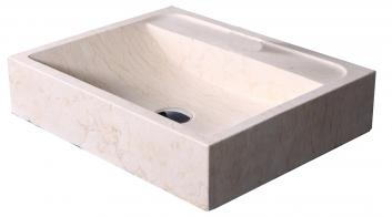 Sunny Yellow Marble Rectangular Vessel Sink