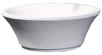 White Sand Marble Round Vessel Sink
