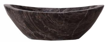 Coffee Marble Oval Vessel Sink
