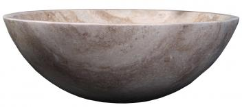 Beige Travertine Marble Round Vessel Sink