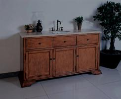 60 Inch Single Sink Bath Vanity In Pecan