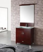 32 Inch Modern Single Sink Bathroom Vanity In Cherry Espresso