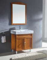 31.5 Inch Modern Single Sink Bathroom Vanity in Honey Oak