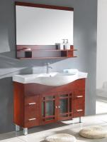 48 Inch Modern Single Sink Bathroom Vanity in Cherry Brown