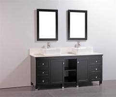 72 Inch Double Sink Bathroom Vanity with Soft Closing Drawers and Doors