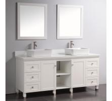 72 Inch Modern Double Sink Vanity in White