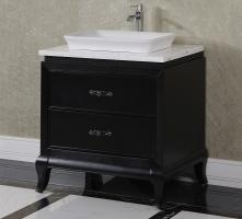 32.3 Inch Single Sink Bathroom Vanity in Matte Black