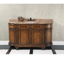 60 Inch Single Sink Bathroom Vanity with Choice of Countertop