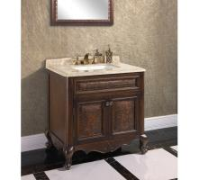 36 Inch Single Sink Bathroom Vanity with Cream Marble