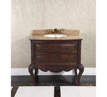 36 Inch Single Sink Bathroom Vanity in Cherry Brown