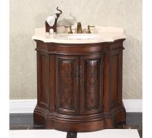 38 Inch Single Sink Bathroom Vanity with New Beige Marble