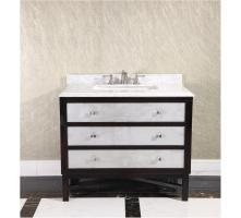 36 Inch Single Sink Bathroom Vanity in Espresso with White