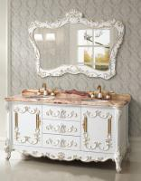 65 Inch Double Sink Bath Vanity With Jade Marble Top