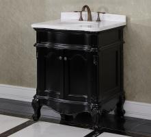30 Inch Single Sink Bathroom Vanity in Matte Black