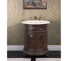 24 Inch Single Sink Bathroom Vanity in Dark Walnut