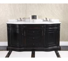 68 Inch Double Sink Bathroom Vanity in Dark Chocolate Brown