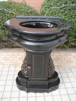 28.5 Inch Hand Crafted Pedestal Style Bathroom Vanity