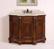 48 Inch Single Sink Bathroom Vanity in Medium Brown