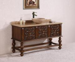59 Inch Single Sink Bathroom Vanity in Walnut