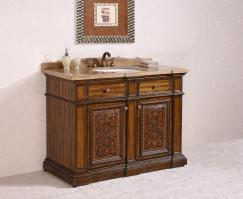 48 Inch Single Sink Bathroom Vanity in Light Walnut
