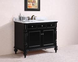 47 Inch Single Sink Bathroom Vanity in Black