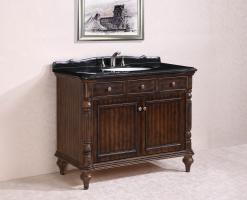 47 Inch Single Sink Bathroom Vanity in Walnut