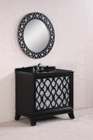 38 Inch Single Sink Bathroom Vanity in Black