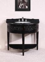 41 Inch Single Sink Bathroom Vanity with Black Granite