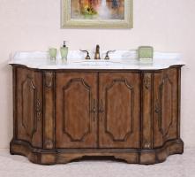 68 Inch Single Sink Bathroom Vanity in Antique Tan