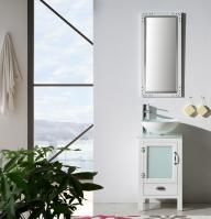 18.5 Inch Modern Single Sink Vanity in Matt White