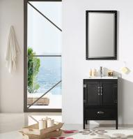 24 Inch Modern Single Sink Vanity in Black