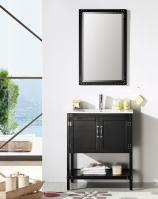 30 Inch Modern Single Sink Vanity in Black