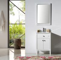 24 Inch Transitional Single Sink Vanity in White