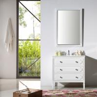 36 Inch Transitional Single Sink Vanity in White