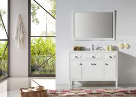 48 Inch Transitional Single Sink Vanity in White