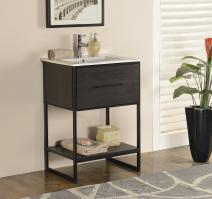 24 Inch Modern Single Sink Vanity in Espresso