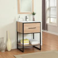 24 Inch Modern Single Sink Vanity in Maple