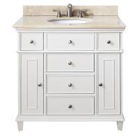 37 Inch Single Sink Bathroom Vanity in Antique White ...