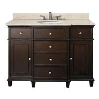 49 Inch Single Bathroom Vanity In Walnut With A Choice Of Top