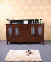 61 Inch Double Sink Bathroom Vanity with Choice of Countertop