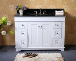 49 Inch Single Sink Bathroom Vanity with Choice of Countertop