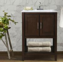 33 Inch Traditional Single Sink Vanity in Coffee Brown