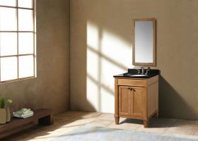 24 Inch Transitional Single Sink Vanity in Light Brown