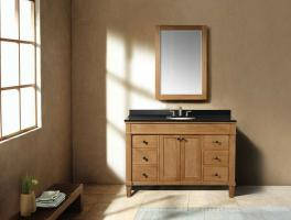 48 Inch Transitional Single Sink Vanity in Light Brown