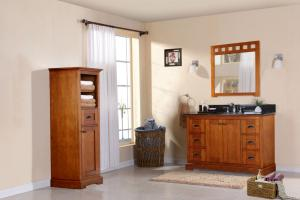 48 Inch Transitional Single Sink Vanity in Brown