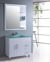 35.5 Inch Single Sink Bathroom Vanity with Matching Mirror