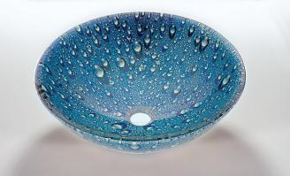 Blue Round Vessel Sink